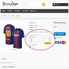 Customization Prices - Adds a cost or price to the custom fields of your store's products. It charges a fee for customizations