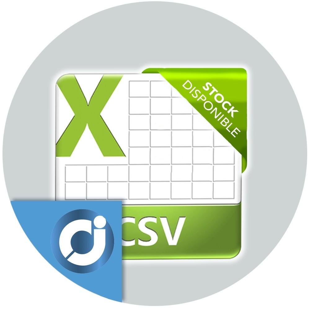 CSV Stock disponible - Exporta e importa la cantidad disponible de cada producto y combinación en un archivo CSV desde el Backo