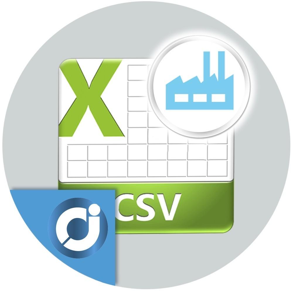 CSV Fabricantes - Exporta e importa los fabricantes de los productos de tu tienda. Actualización en masa de los fabricantes o m