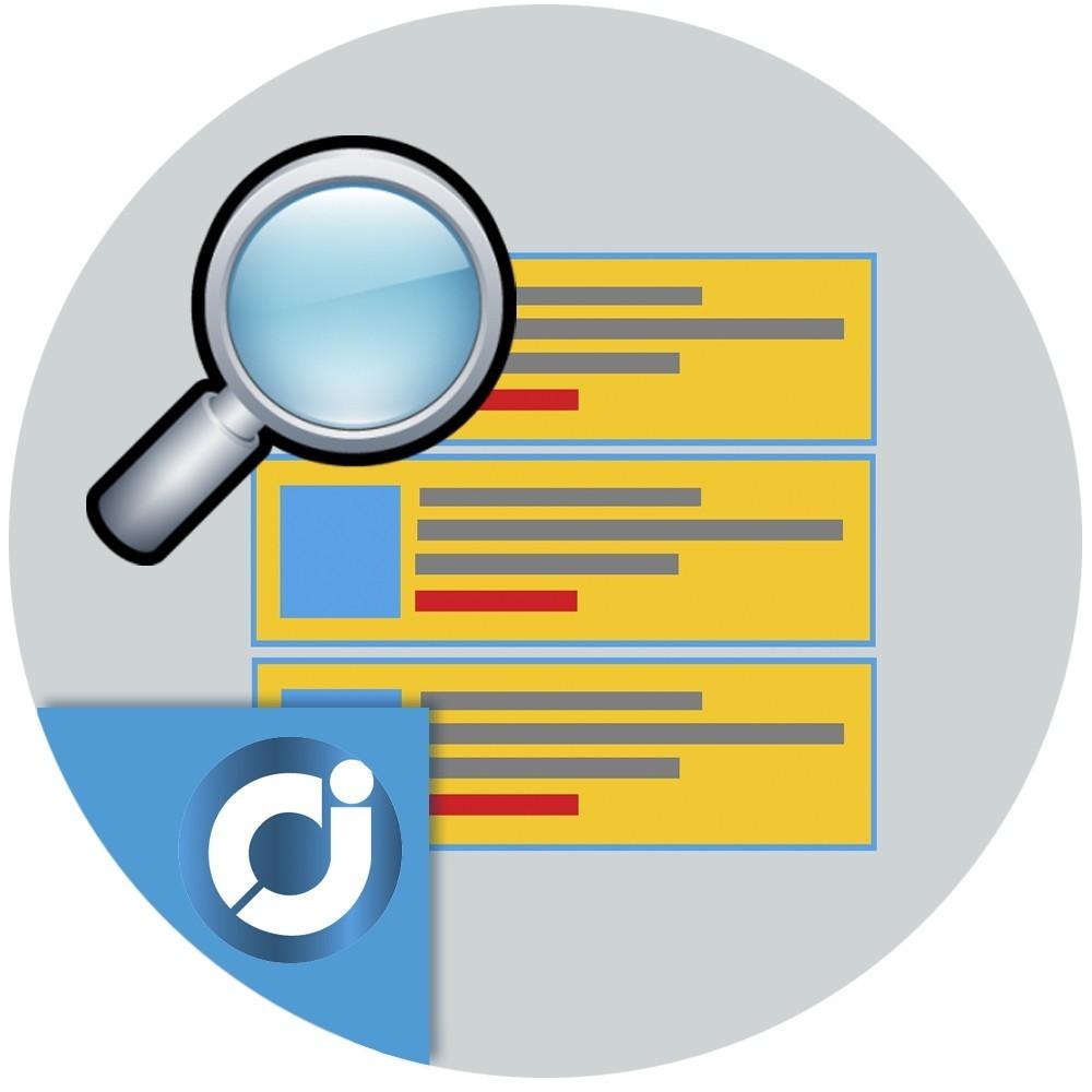 Bloque de búsqueda con sugerencias - Permite al cliente realizar búsquedas avanzadas en tu tienda con sugerencias elegantes de