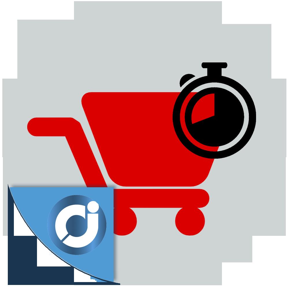 Mensaje de reserva y cuenta atrás en el carrito - Muestra un mensaje de reserva y cuenta atrás en la pasarela de pago de tu tie