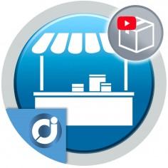 Permite a los vendedores de tu mercado agregar un vídeo en sus productos usando la plataforma YouTube.