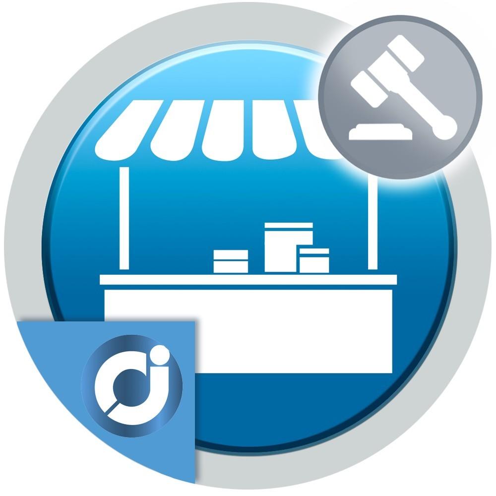 JA Marketplace Subastas del Vendedor - Crea y permite a los vendedores de tu mercado crear subastas de sus productos.