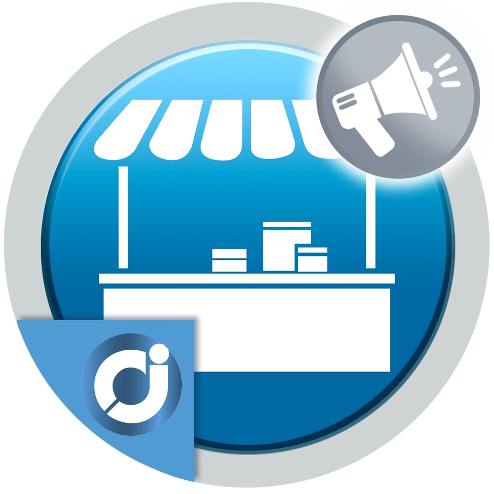 Charges a weekly, monthly, quarterly or annual fee to the seller for highlighting its products
