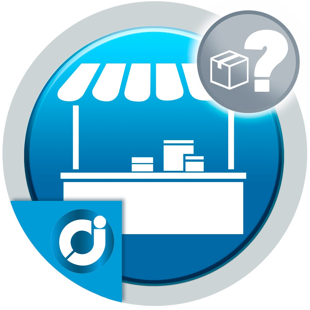 Allows customers to ask questions on the products of the market sellers.
