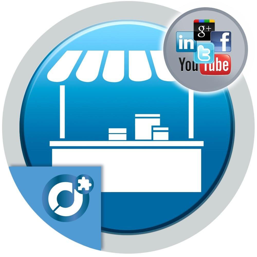 Permite a los vendedores de tu mercado añadir enlaces a todas sus redes sociales en su perfil de vendedor o página de su tienda.