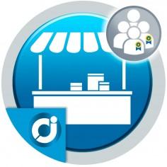 JA Marketplace Vendedores destacados: Agrega un bloque de vendedores destacados en la página principal del mercado.