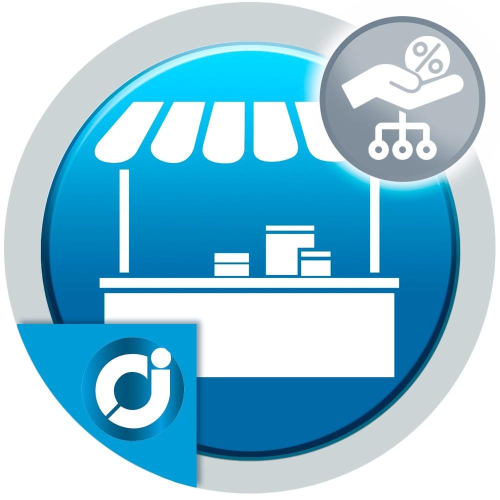 JA Marketplace Comisiones por Categoría: Establece un porcentaje de comisión distinto a cada categoría en tu mercado.