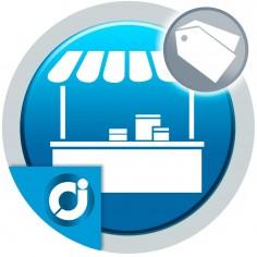 Permite al vendedor crear vales de descuentos para sus productos en el mercado.