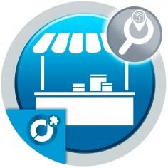 Permite a los clientes encontrar productos de los vendedores del mercado en su zona.