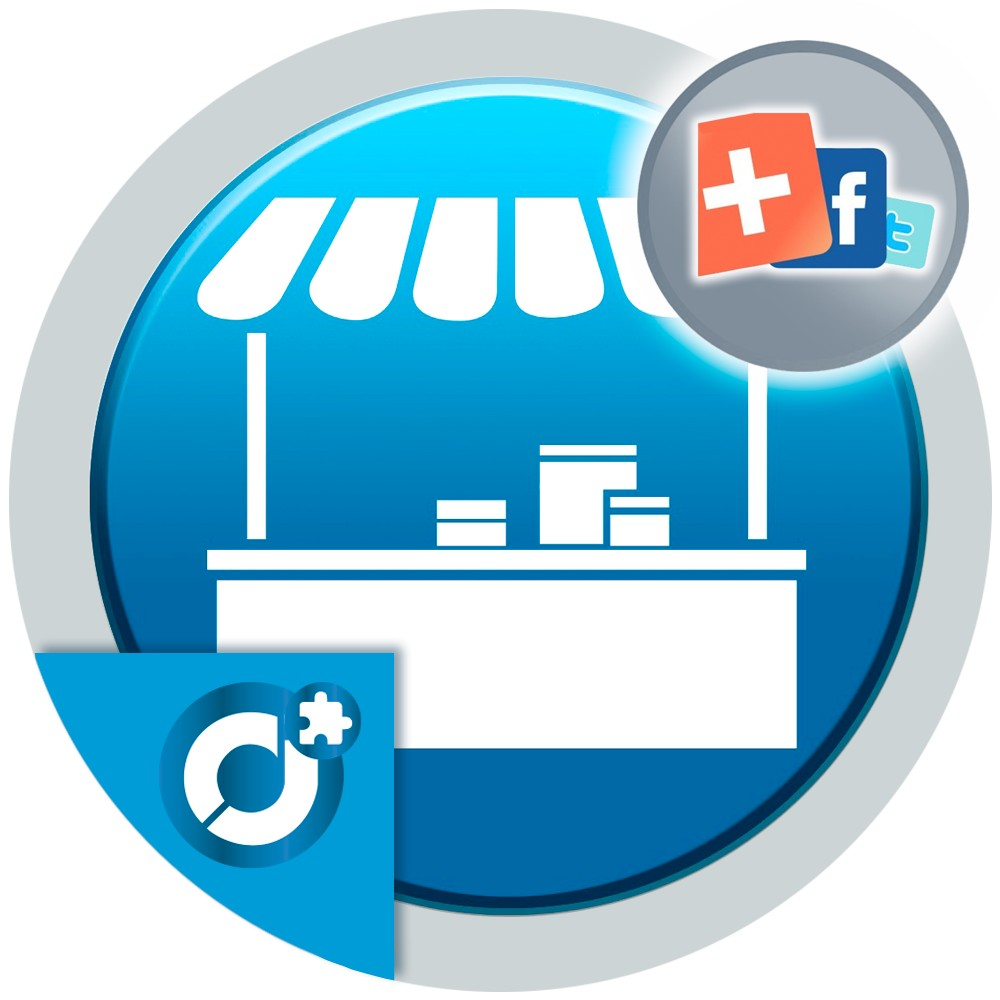 Allows market customers to share the profile or page of the seller in the most popular social networks using the Addthis tool.