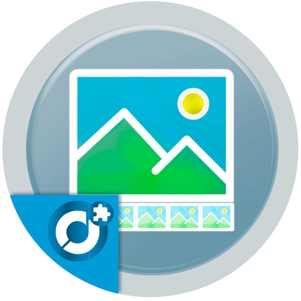 Añade galerías de imágenes y/o videos de forma potente y simple en cualquier posición disponible de tu tienda utilizando el plu