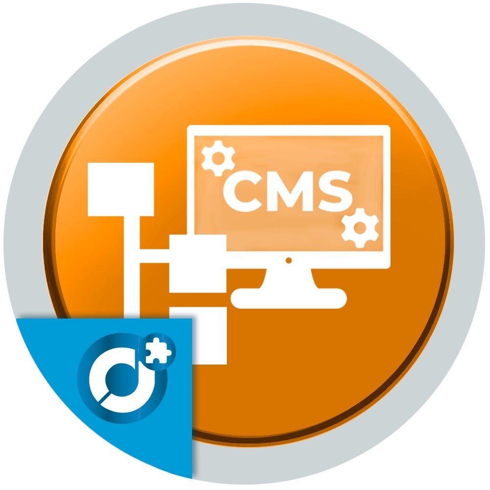 Associates a category with CMS pages to display text, images, videos, etc in the category page.