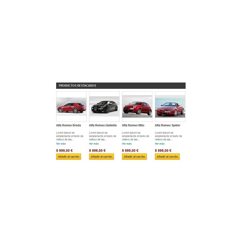 Home Products Featured - Añade un bloque de productos destacados, novedades, ofertas y/o top ventas en la página principal de t