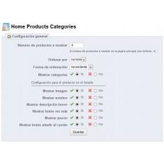 Home Products Categories - Añade bloques de productos de categorías en la página principal.